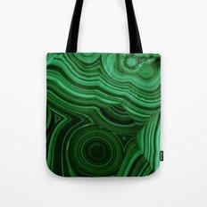 GREEN MALACHITE STONE PATTERN Tote Bag