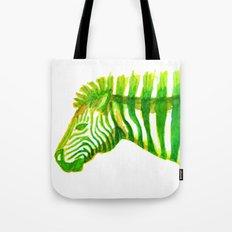 Zebra Watercolor Print Tote Bag