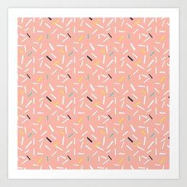 confettie pattern pink Art Print