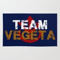vegeta Area & Throw Rugs featuring Team Vegeta by AJF89