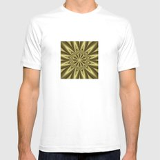Gold Nugget MEDIUM Mens Fitted Tee White