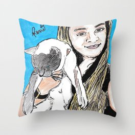 Caca e Dudu Throw Pillow