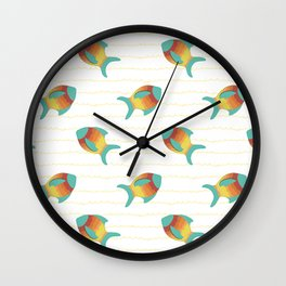 Turquoise Fish Wall Clock
