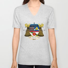 Doctor Who Coat of Arms Unisex V-Neck