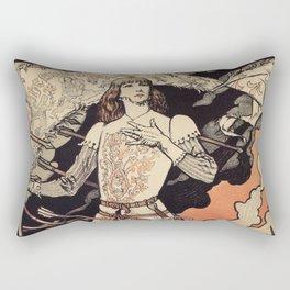 Sarah Bernhardt as Joan of Arc vintage theatre ad Rectangular Pillow