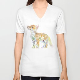 Fox Cub Unisex V-Neck