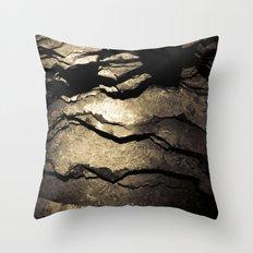 Brown Upstate New York Cave Art Throw Pillow