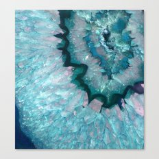 Teal Crystal Canvas Print