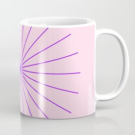 SpikeyBurst - Pastel Pink Background with Purple Coffee Mug