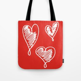 friends hearts Tote Bag