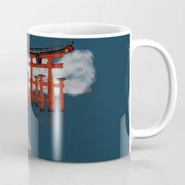 Floating by the Torii Gate Coffee Mug