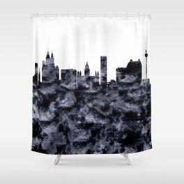 Liverpool Skyline Great Britain Shower Curtain