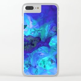 Violet Blue - Abstract Art By Sharon Cummings Clear iPhone Case