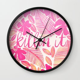 Killin' It – Pink Ombré Wall Clock