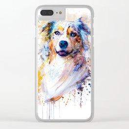 Australian Shepherd Portrait Clear iPhone Case