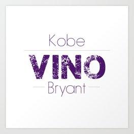 VINO (Purple) Art Print