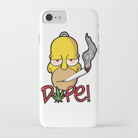 simpson iPhone & iPod Cases featuring Dope Homer Simpson by DeMoose_Art