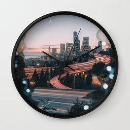 Seattle Cityscape Wall Clock