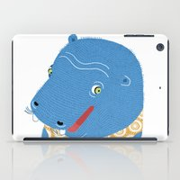 hippo iPad Cases featuring Hippo by Jennifer Nystedt