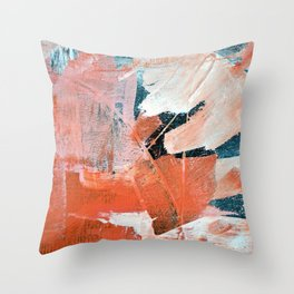 Interrupt [3]: a pretty minimal abstract acrylic piece in pink white and blue by Alyssa Hamilton Art Throw Pillow