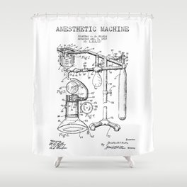 Vintage Anesthesia Gas Machine Shower Curtain