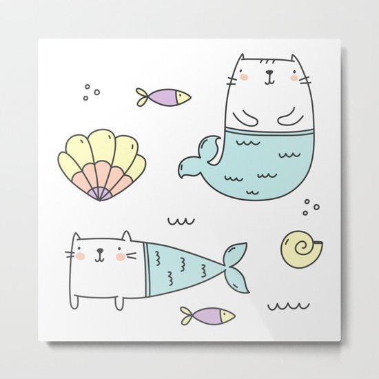 Ocean Merkitties Metal Print