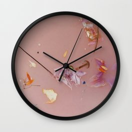 Harry Styles - pink flowers album Wall Clock