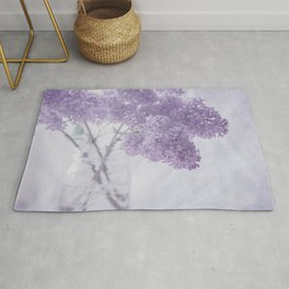 First Love - Pastel Purple Lilac Floral Decor Rug