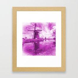 Pink Windpump Framed Art Print