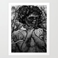Shirley Temple zombie Art Print
