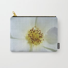 White Flower Close Up by Reay of Light Photography Carry-All Pouch
