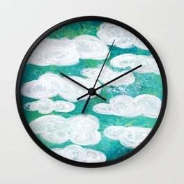 Into the Clouds Wall Clock