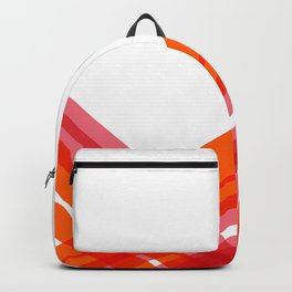 Tangerine Abstract Backpack