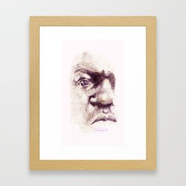 Big. Portrait of the Notorious Biggie Smalls. Christopher Wallace Framed Art Print