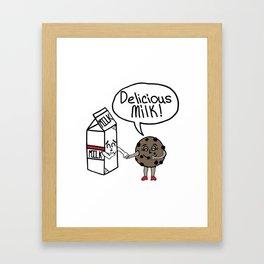 Delicious Milk Framed Art Print