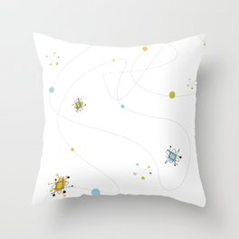 1950s / 1960s Mid Century Atomic Age Retro Pattern Throw Pillow
