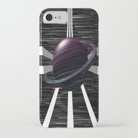 saturn iPhone & iPod Cases featuring Saturn by Isaak_Rodriguez