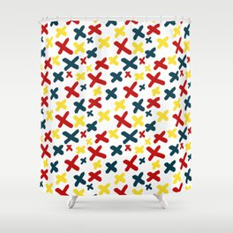 Mid-Century Exes Shower Curtain