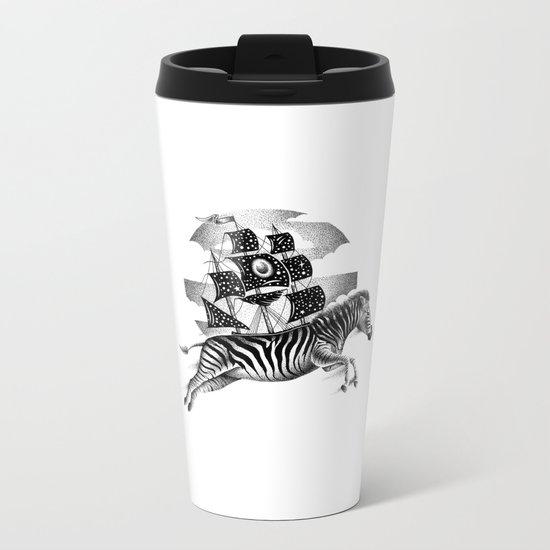 ZEBRA VESSEL Metal Travel Mug