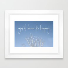 perks of being a wallflower - life is happening Framed Art Print