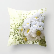 Bouquet of daisies in LOVE - Flower Flowers Daisy Throw Pillow