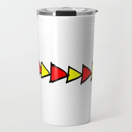 Funny triangles-abstraction,abstract,geometric,geometrical,pattern,triangle,order Travel Mug