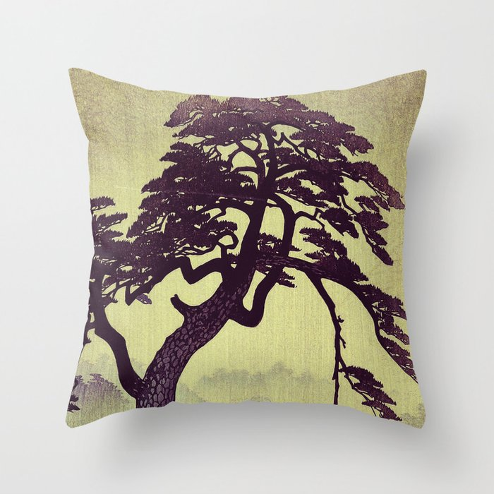Old Man Standing Throw Pillow