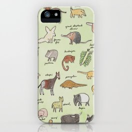 The Obscure Animal Alphabet iPhone Case