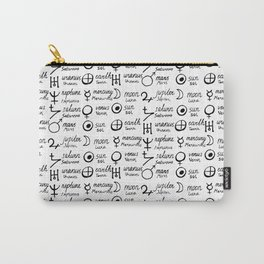White magic print Carry-All Pouch