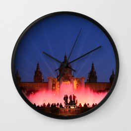 Magic Fountain of Montjuic 3 Wall Clock