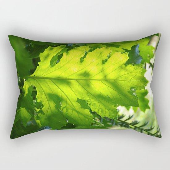 Green Touch Rectangular Pillow