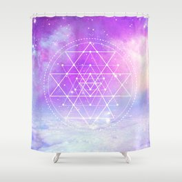 Sacred Geometry (Sri Yantra) Shower Curtain