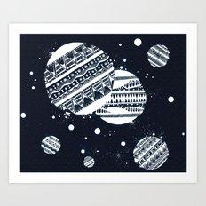 Pattern Doodle One (Invert) Art Print
