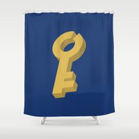 key Shower Curtains featuring Key by Henderson GDI